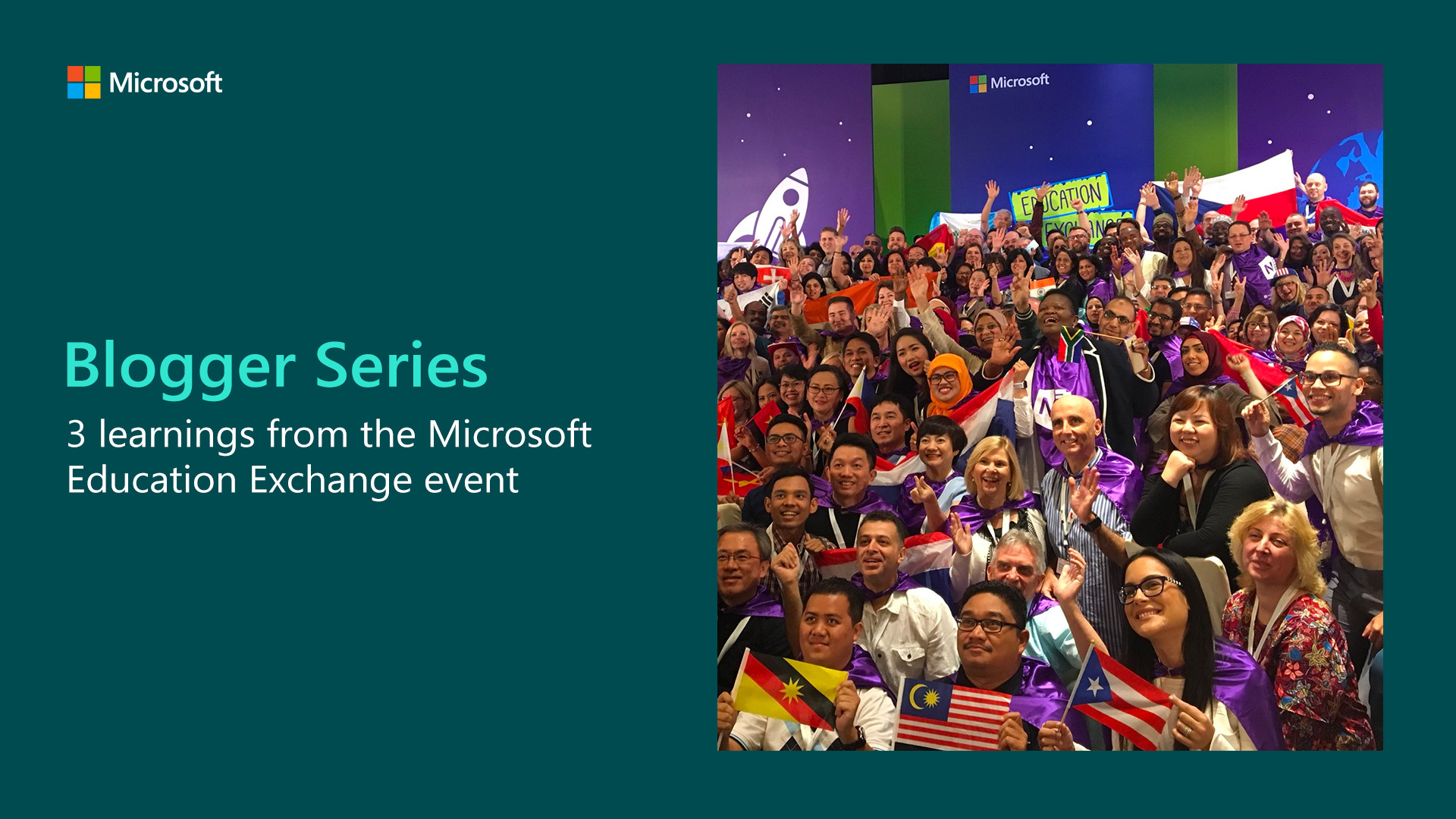 ATtendees of the Microsoft Education Exchange event in Paris