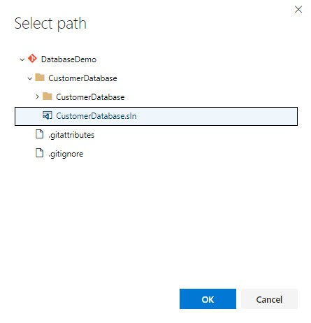 A screenshot showing the filepath of the customer database used in the project.