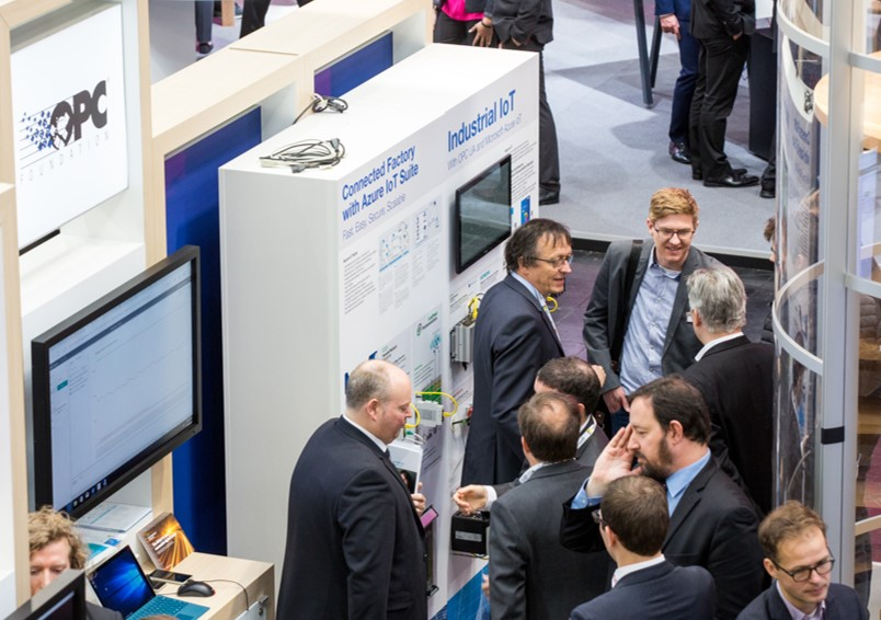 Image from show floor of Hannover Messe