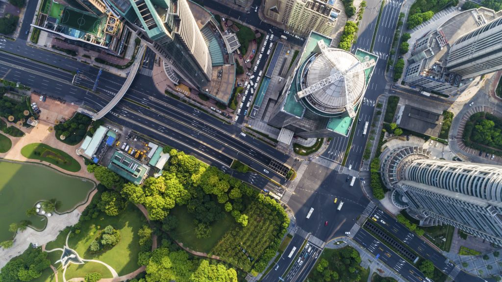 Aerial View of Shanghai Lujizui Financial District?shanghai,china