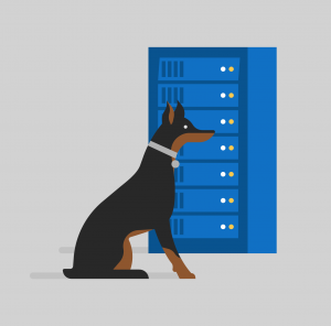 Illustration detailing security of files.