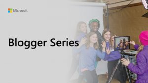Microsoft Blogger Series thumbnail. Group of young children being filmed in a school environment.