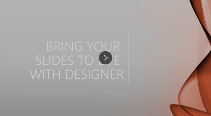 Link to video on how to use Design Ideas