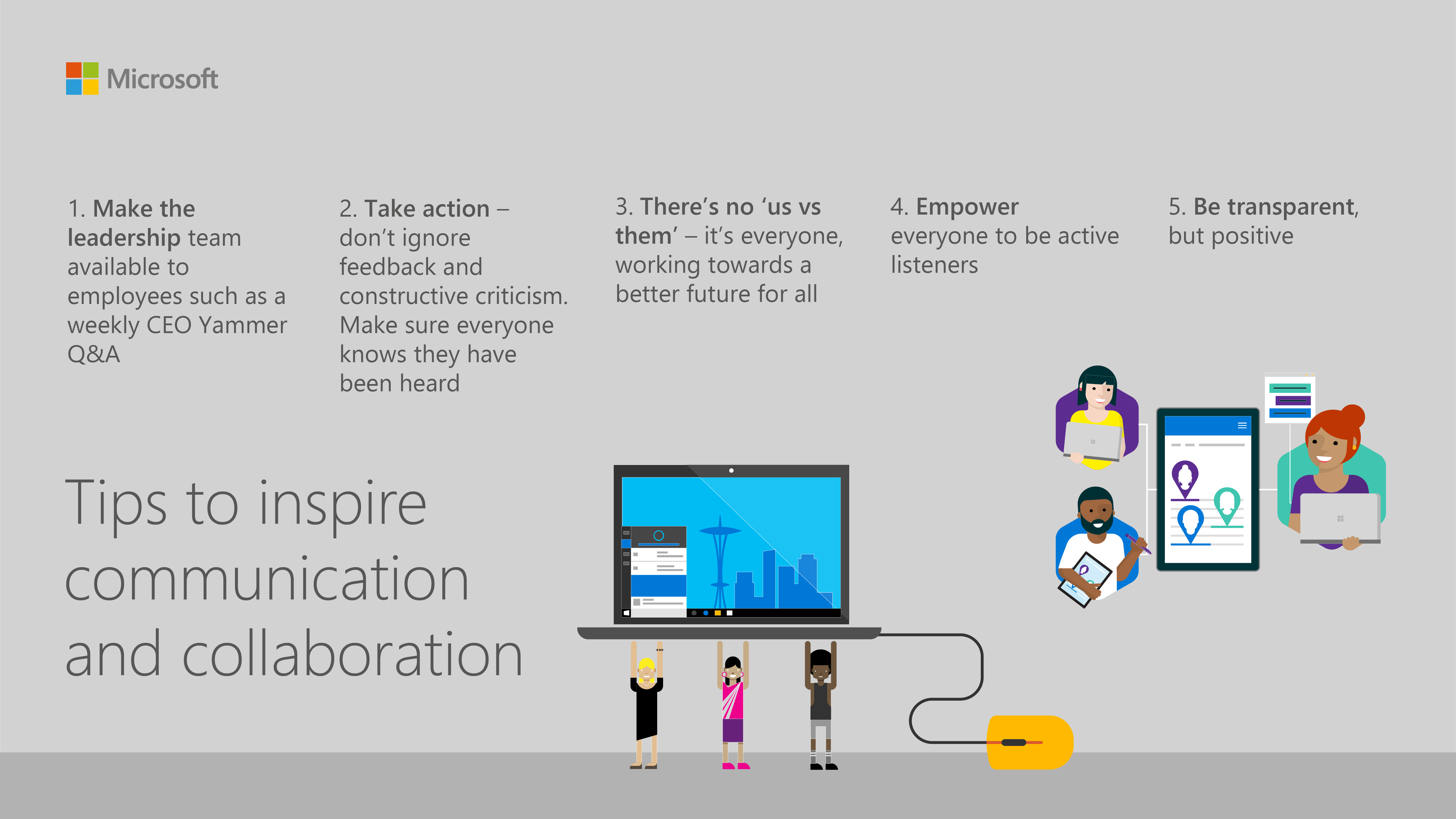 Tips to inspire collaboration and communication