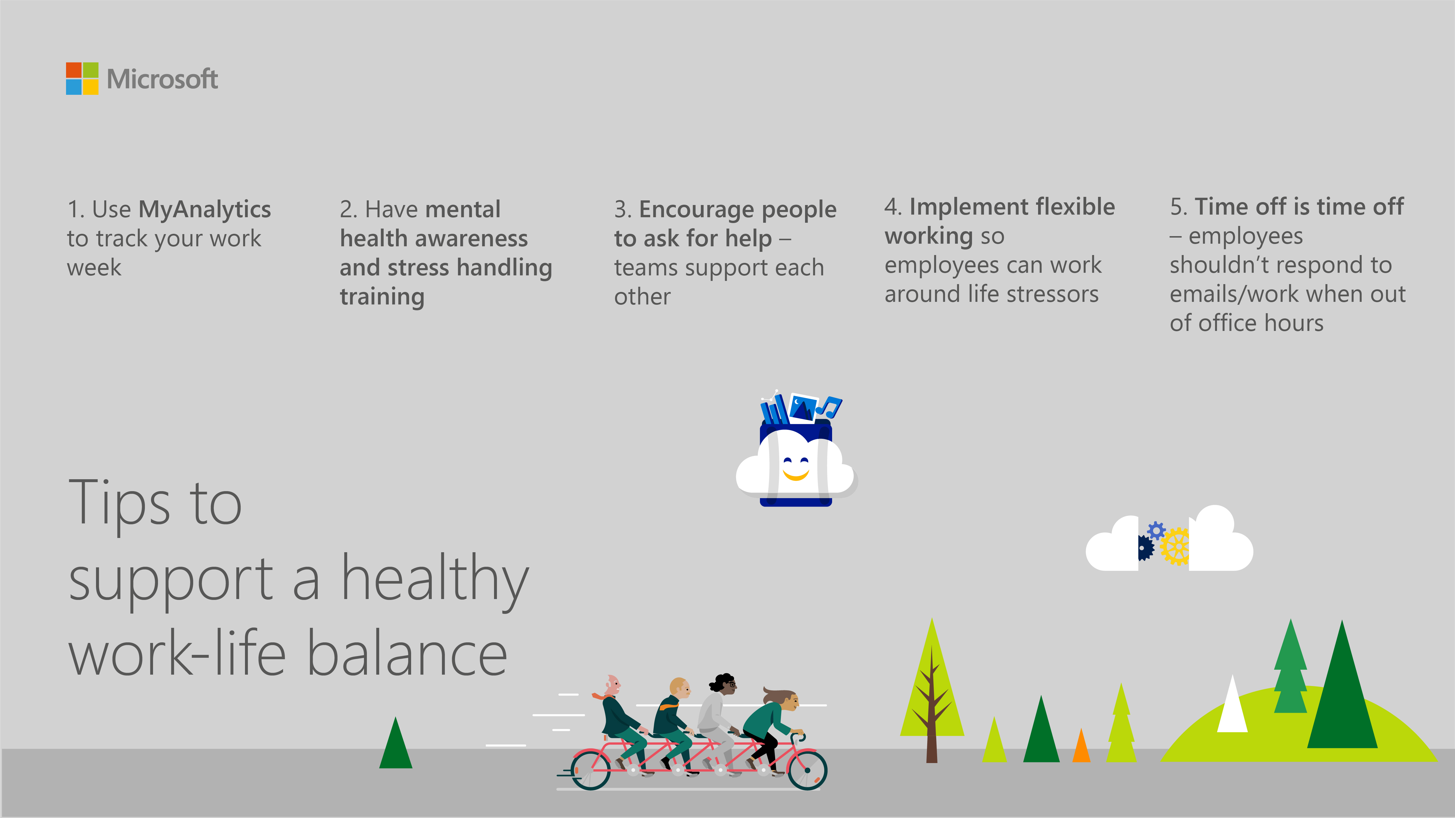 Tips to encourage a healthy work-life balance