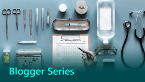Blogger series thumbnail showing medical tools.