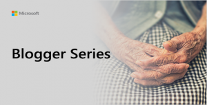 Blogger Series thumbnail showing elderly woman with hands in her lap.