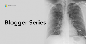 Blogger Series Graphic showing x-ray of lungs.