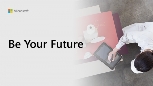 Be Your Future thumbnail showing somebody making notes on a tablet whilst sitting at a desk.
