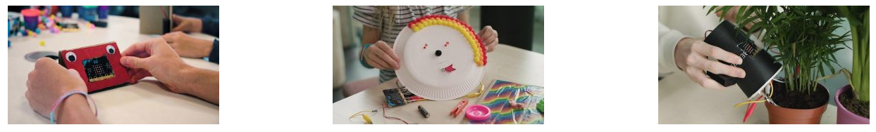 Various MakerChampions projects using BBC micro:bit to create a doorbell, craft a light up festival mask and water crops
