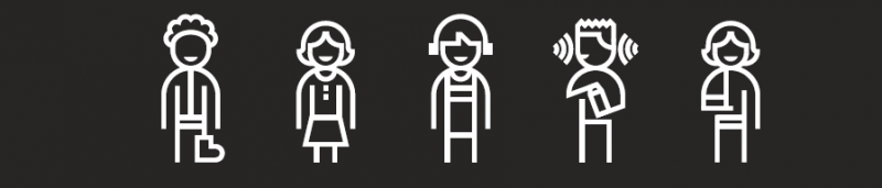A graphic showing a range of diverse figures