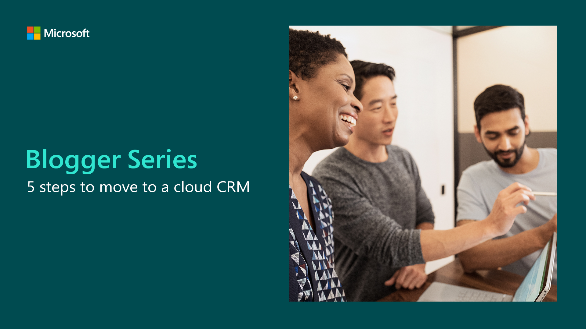 5 steps to move to a cloud CRM graphic