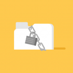 Graphic of padlock and secure file