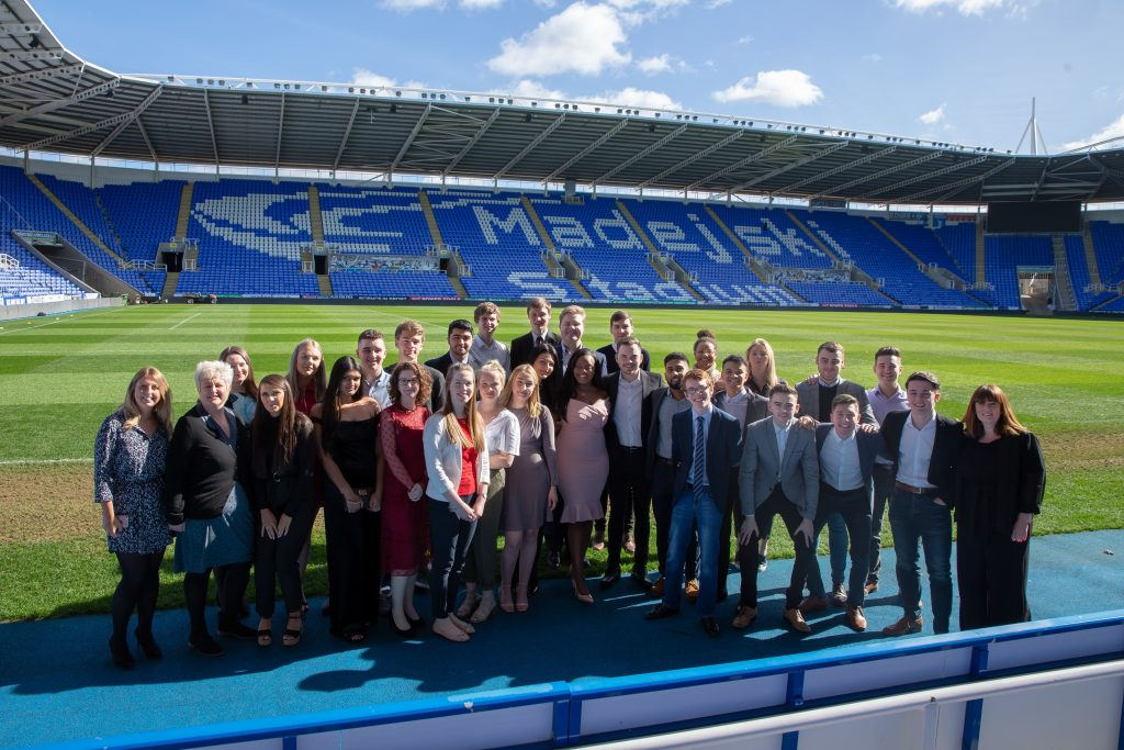 Microsoft UK FY18 Apprentices at their graduation at Madejski Stadium, Reading