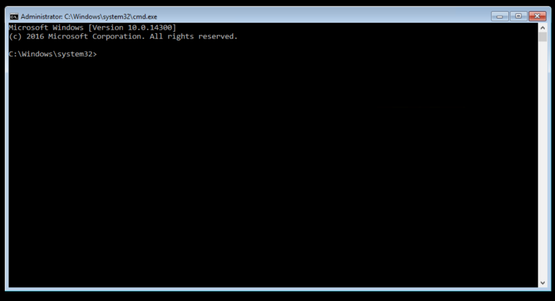 A new Command Line window.