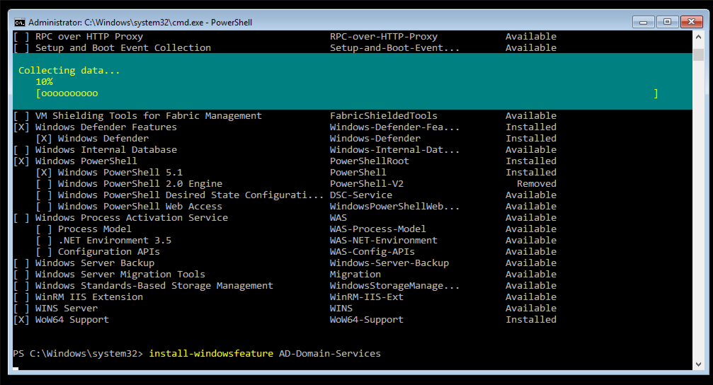 start windows 10 setup from command prompt