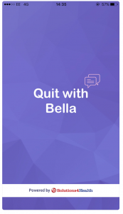 Screenshot of the Quit with Bella app