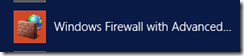 The icon for Windows Firewall with Advanced Security.