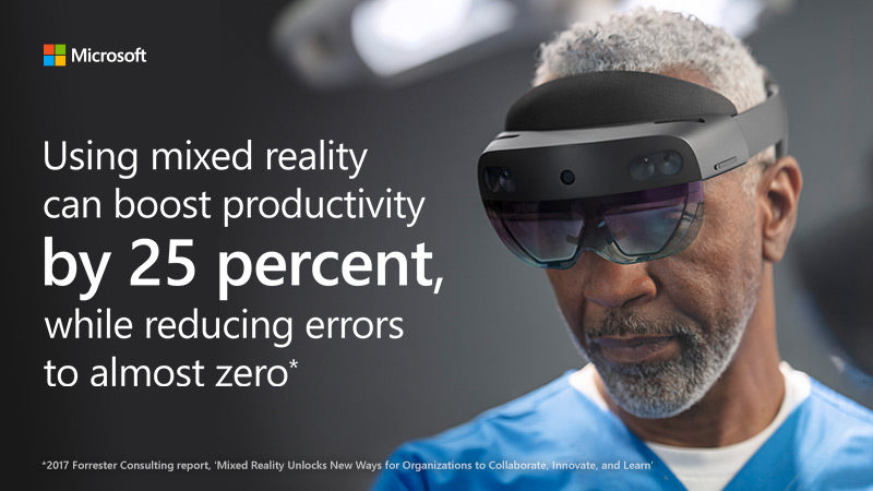 Using mixed reality can boost productivity by 25 percent, while reducing errors to almost zero.