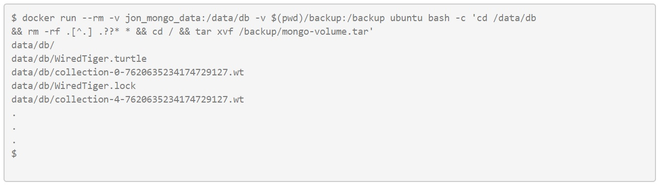 Doing the same as before, only with the Mongo database.