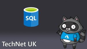 A SQL icon, next to a picture of Bit the Raccoon.