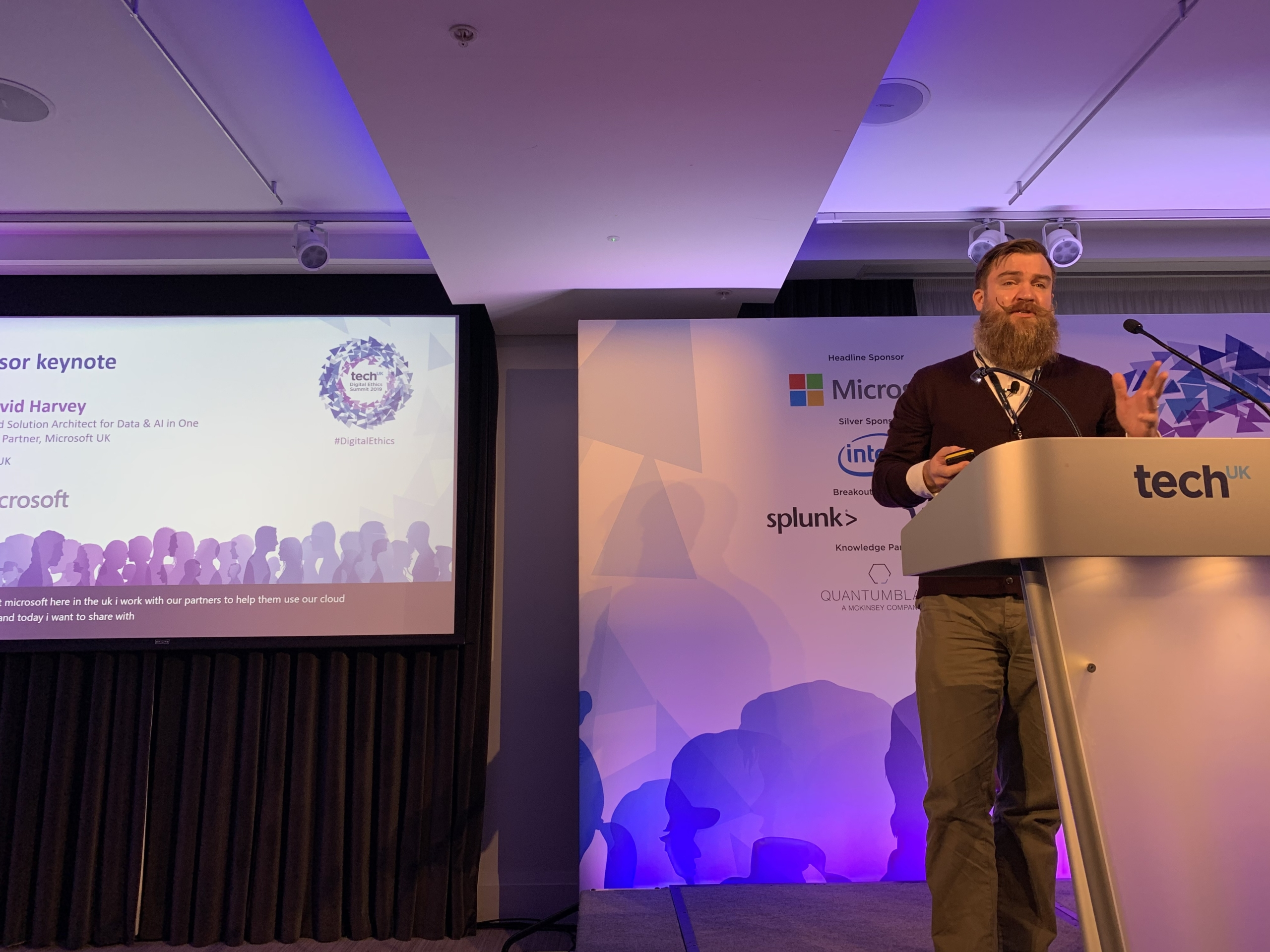 Phil Harvey speaking at TechUK Digital Ethics Conference