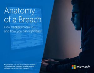 Graphic of the Anatomy of a breach ebook cover