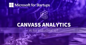 A header image displaying the logo and name of Canvass Analytics as a part of the Microsoft for Startups program