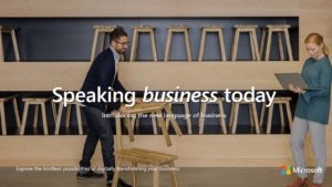 Cover of the ebook with text that reads Speaking business today: Introducing the new language of business