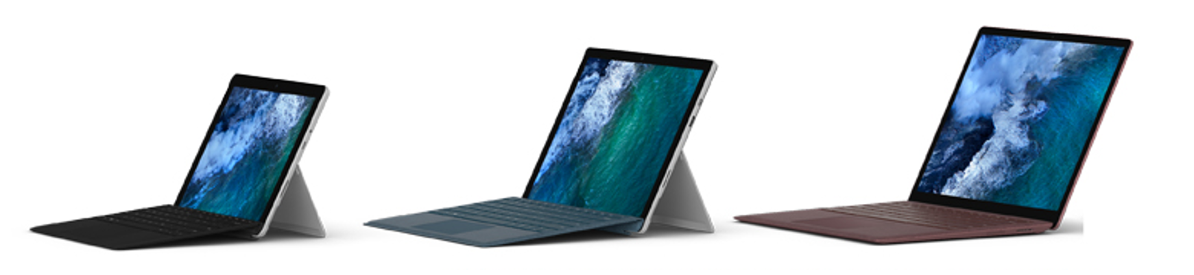 Photograph of Microsoft Surface devices.