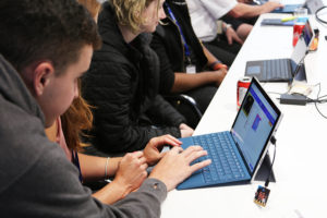 People using Surface