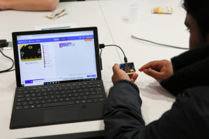 Person using MicroBit