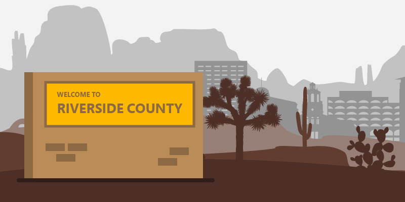 welcome to riverside county sign