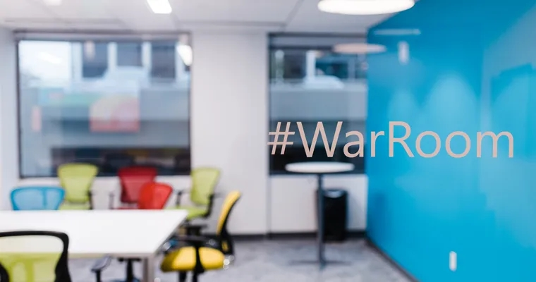 "Conference room, ""#WarRoom"""