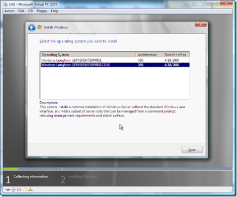 Longhorn server – last version of 32 bit windows | remote.