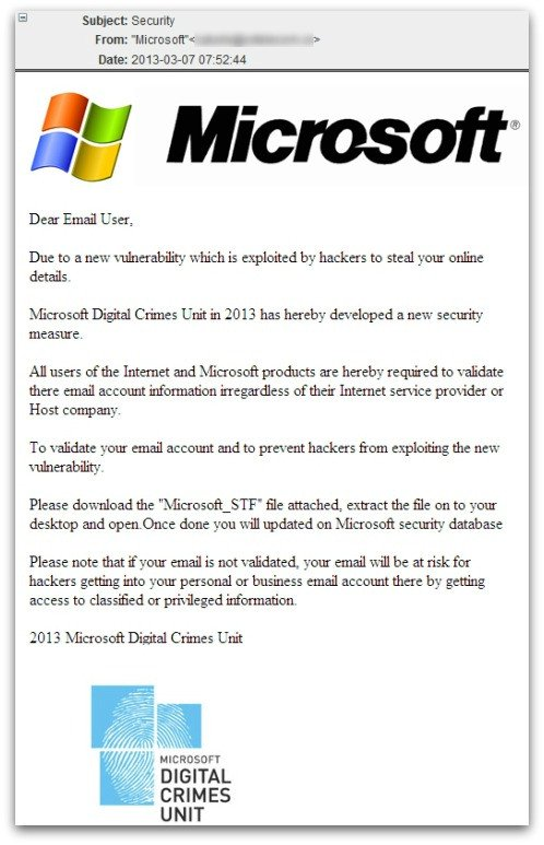 microsoft scam email