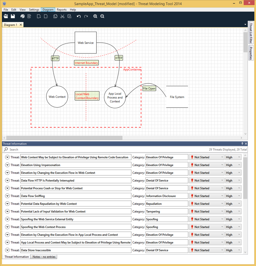 Getting started microsoft threat modeling tool azure.