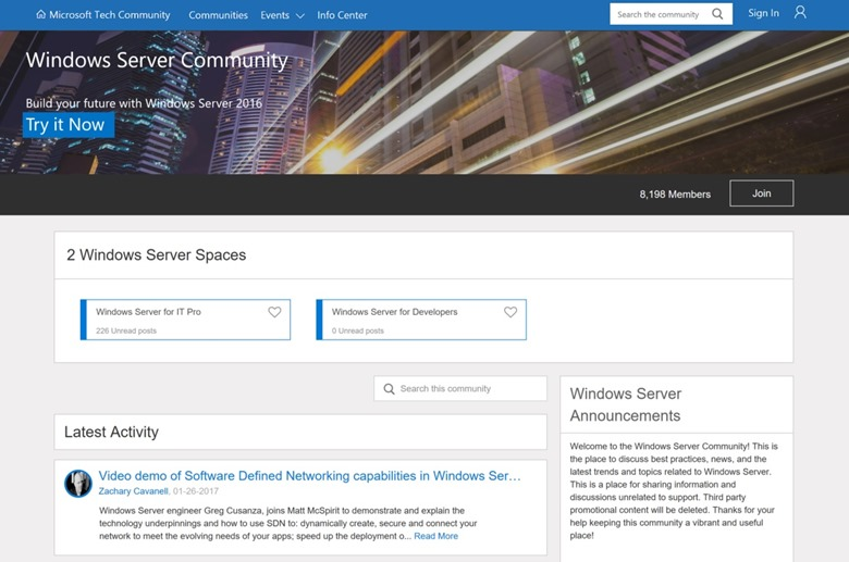 WindowsServerCommunity