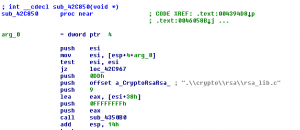 Figure 4: Code snippet that is linked from OpenSSL library