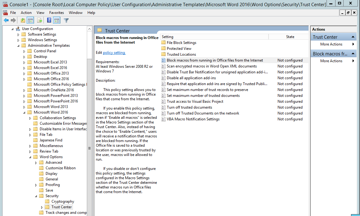 disable excel protected view 2013