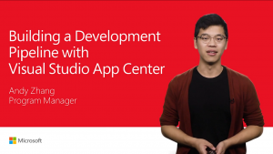 Building a development pipeline with visual studio app center presentation home screen
