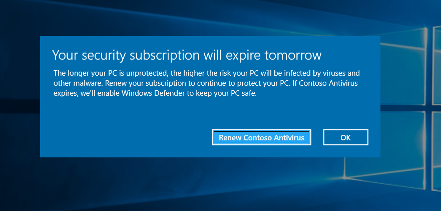 Partnering with the AV ecosystem to protect our Windows 10