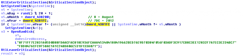 Screenshot of Depriz license key (the same as the one used in 2012 attacks) and its limited validity period