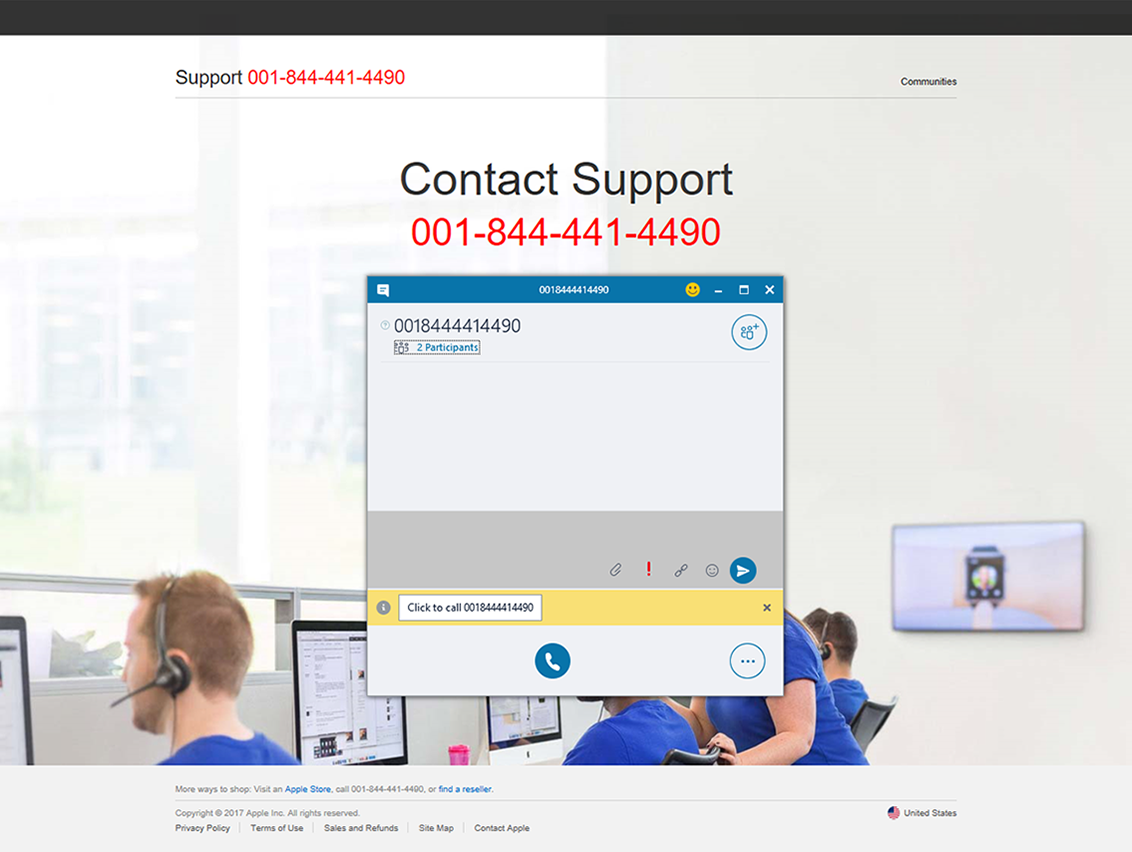 New tech support scam launches communication or phone call