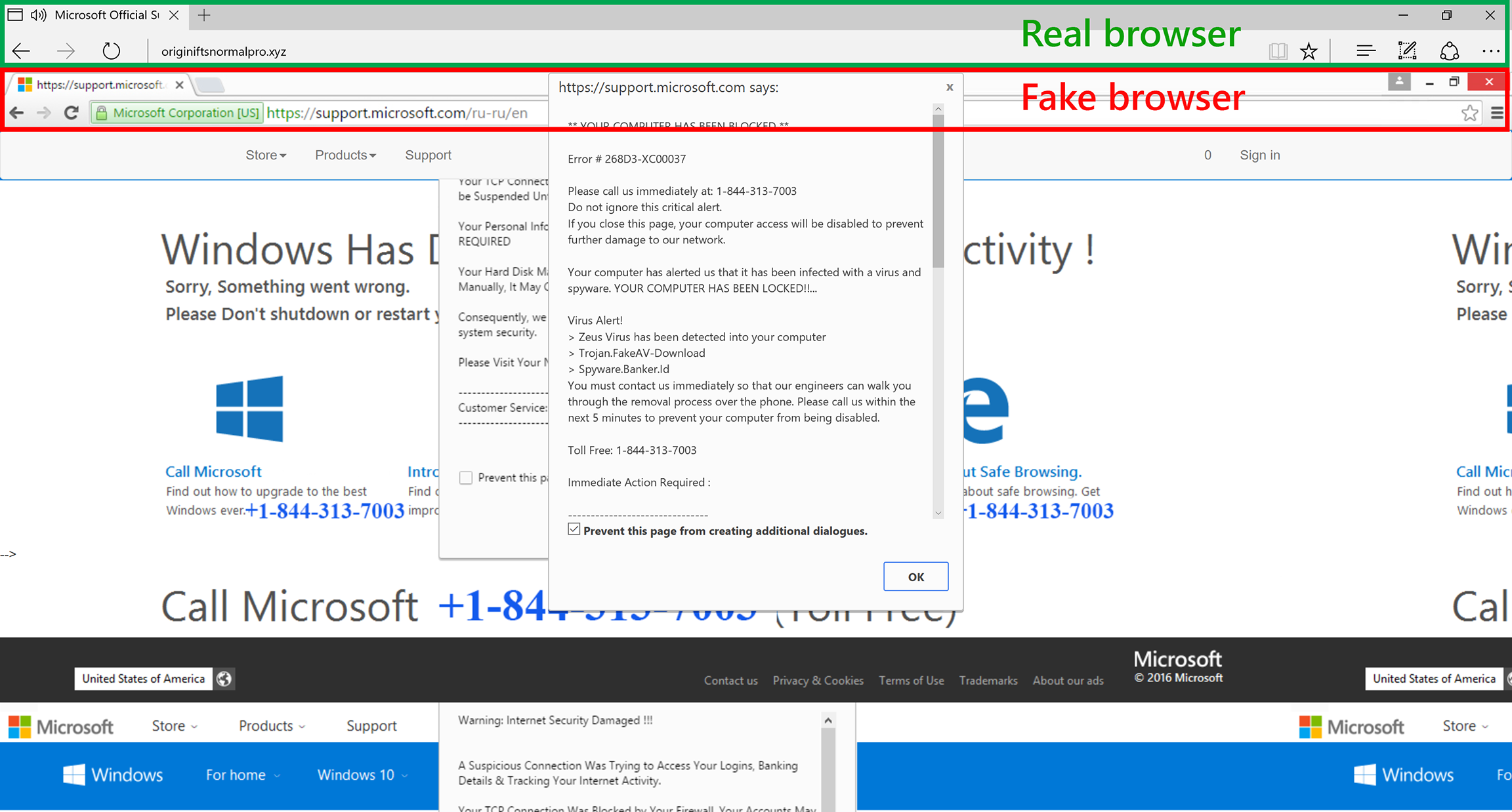 Breaking Down A Notably Sophisticated Tech Support Scam M O Microsoft Security
