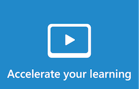 Illustrated image with text that reads: Accelerate your learning.