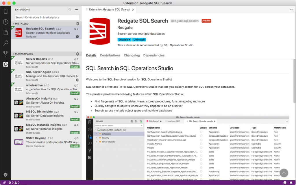 The May release of SQL Operations Studio is now available