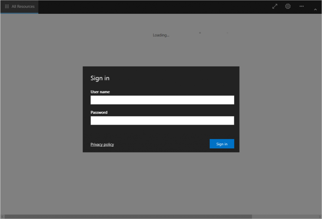 Image of the new sign-in experience for Remote Desktop.