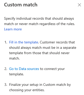 Instructions to perform a Custom match